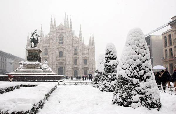 Милан в зимней сказке. Италия.