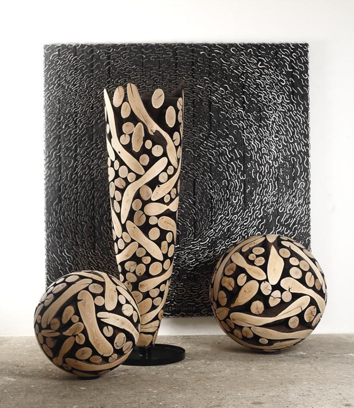 Работы корейского дизайнера Jae Hyo Lee — мебель и элементы декора из обработанных сосновых бревен. 5