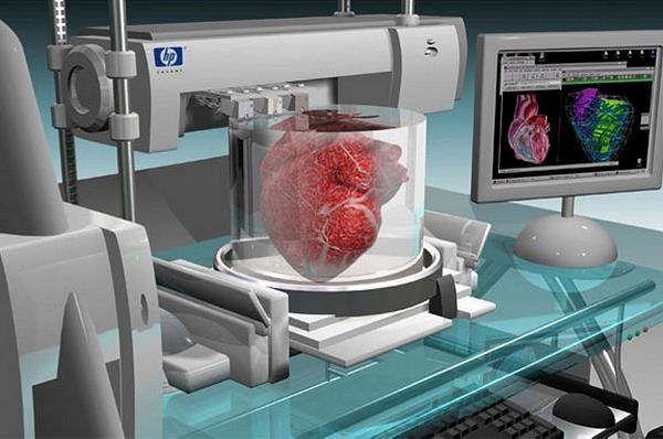 Трехмерный биопринтер, печатающий цельные органы, компактных размеров и вполне может разместиться на столе.