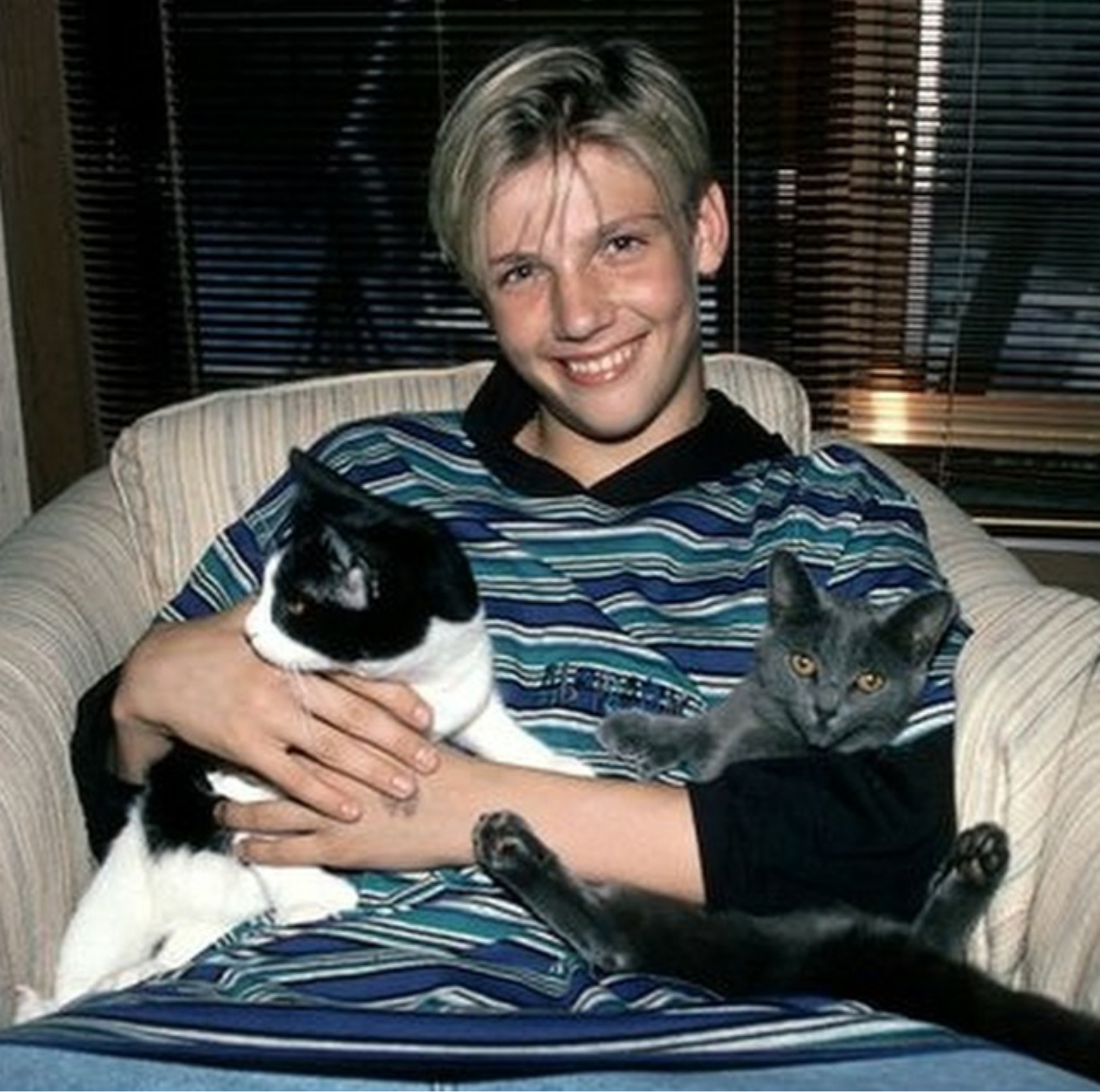 Nick and some childhood  cats