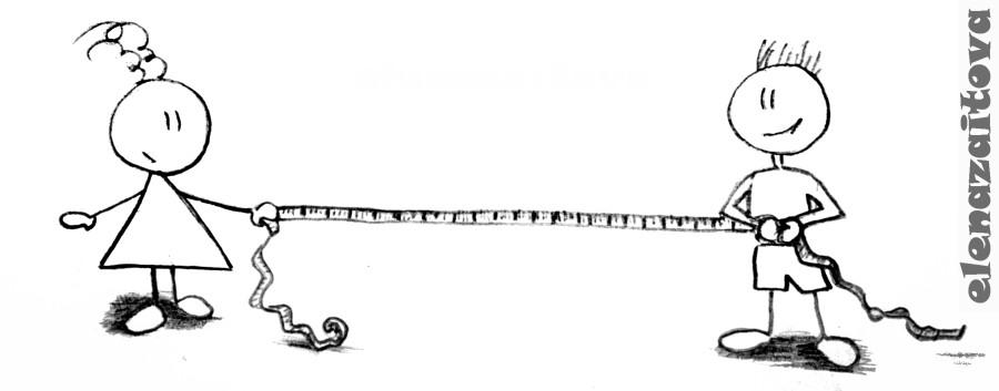 Расстояние между влюбленными
