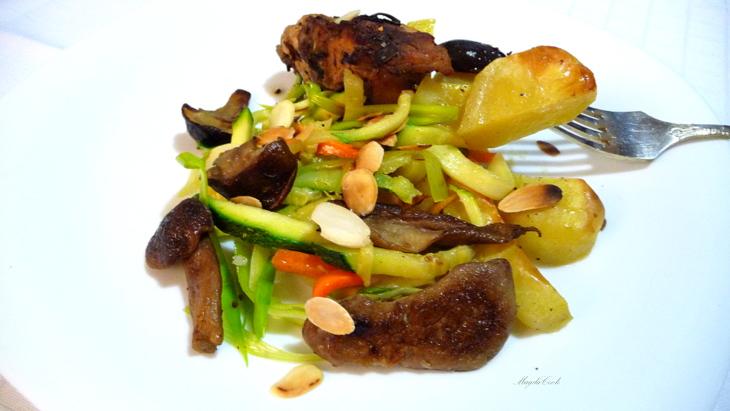 кролик с овощами и грибами2