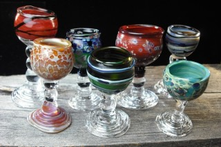 Miniature glass goblets from Maggs Creations