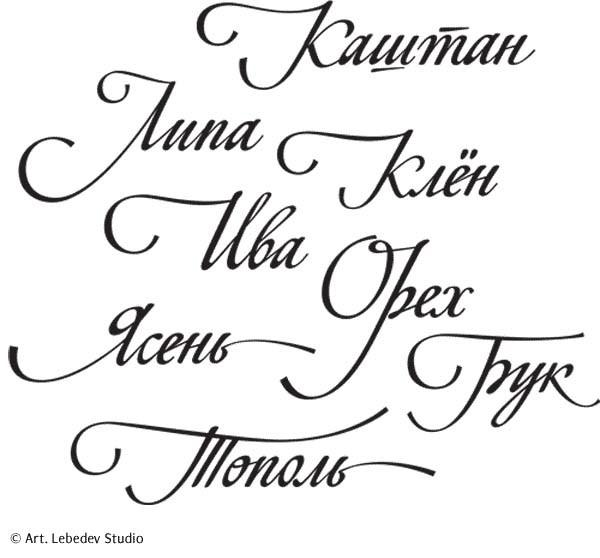 Шрифты что бы подписать открытку