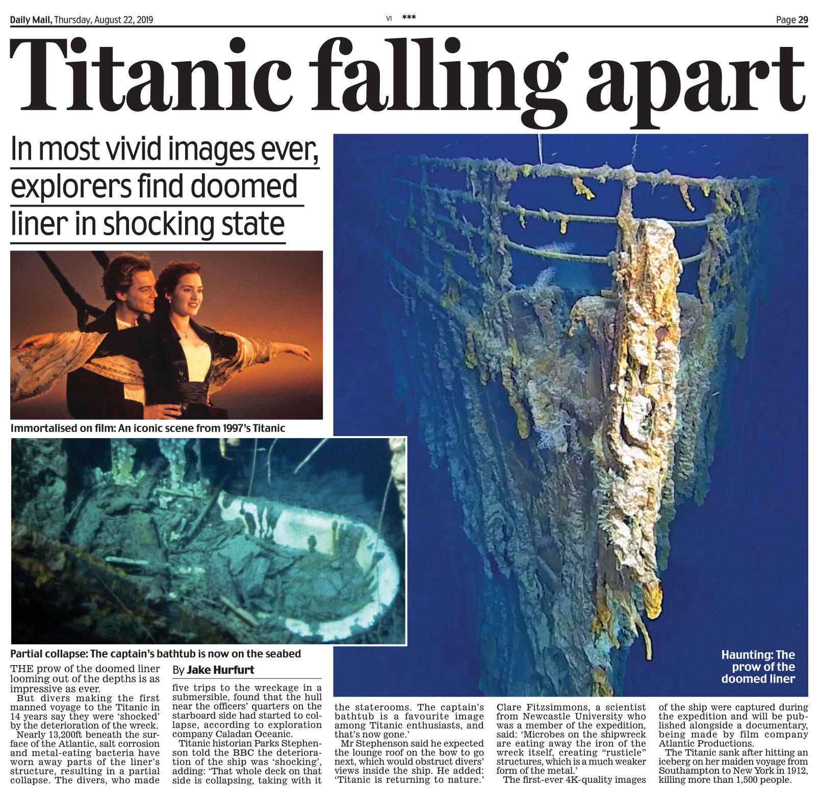 Daily Mail August 22 2019 Titanic.jpg