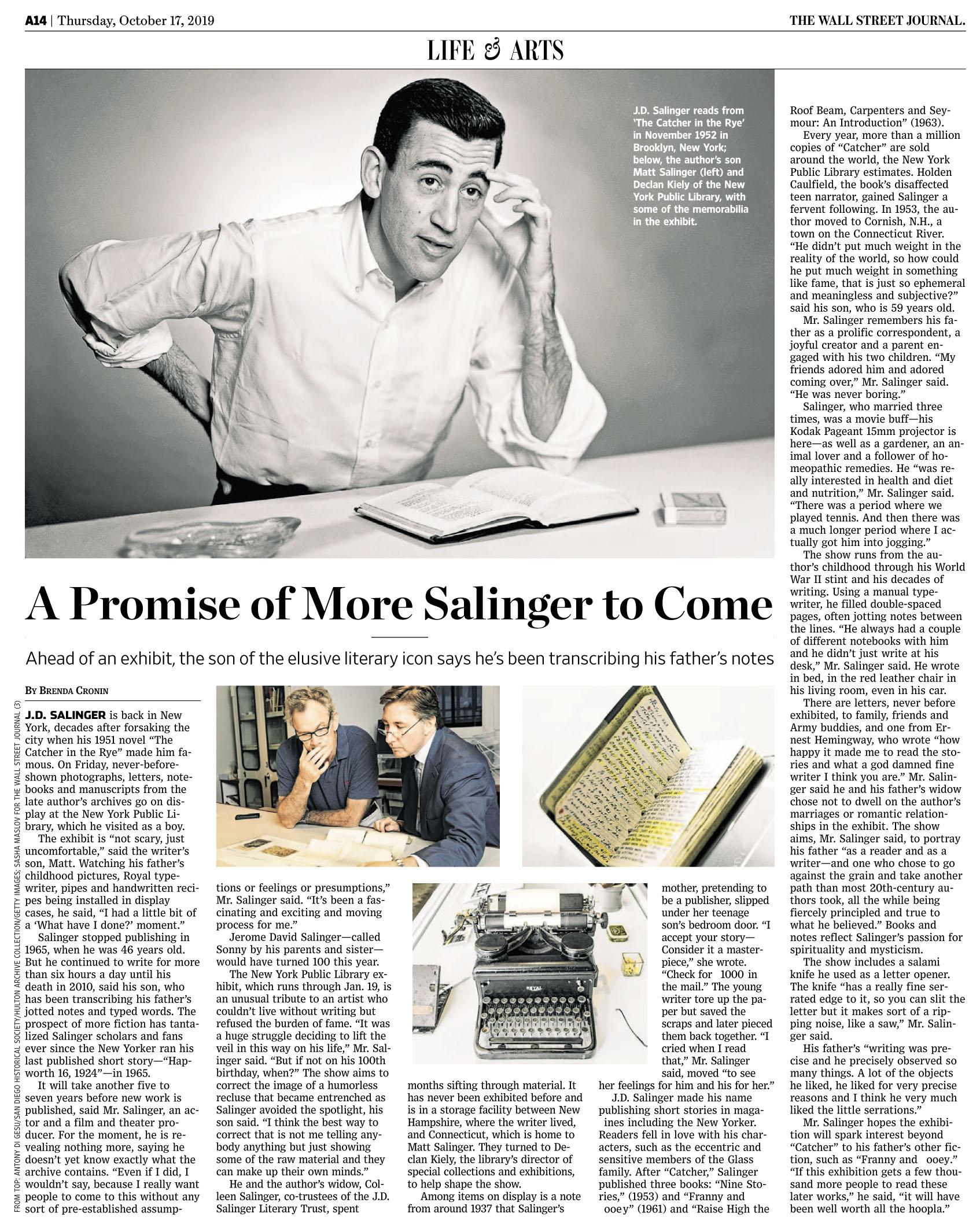 WSJ 191017 Salinger.jpg