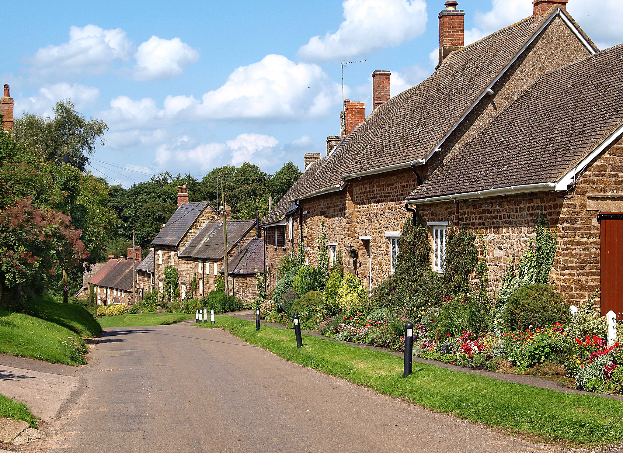 The main street of Preston Capes, Northamptonshire by Andrew S Brown.jpg
