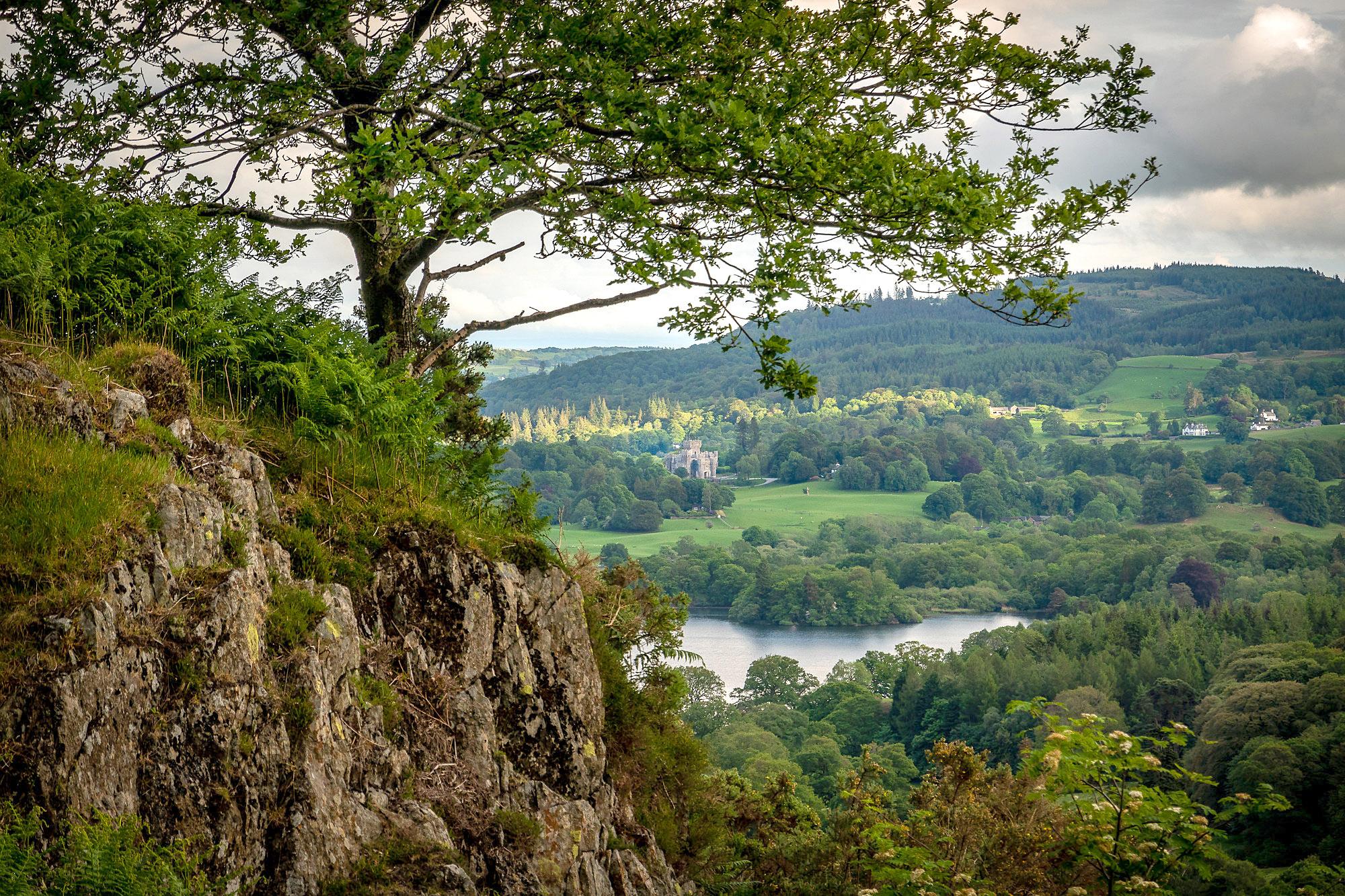 Wray Castle from Loughrigg Fell, Lake District by Bob Radlinski.jpg