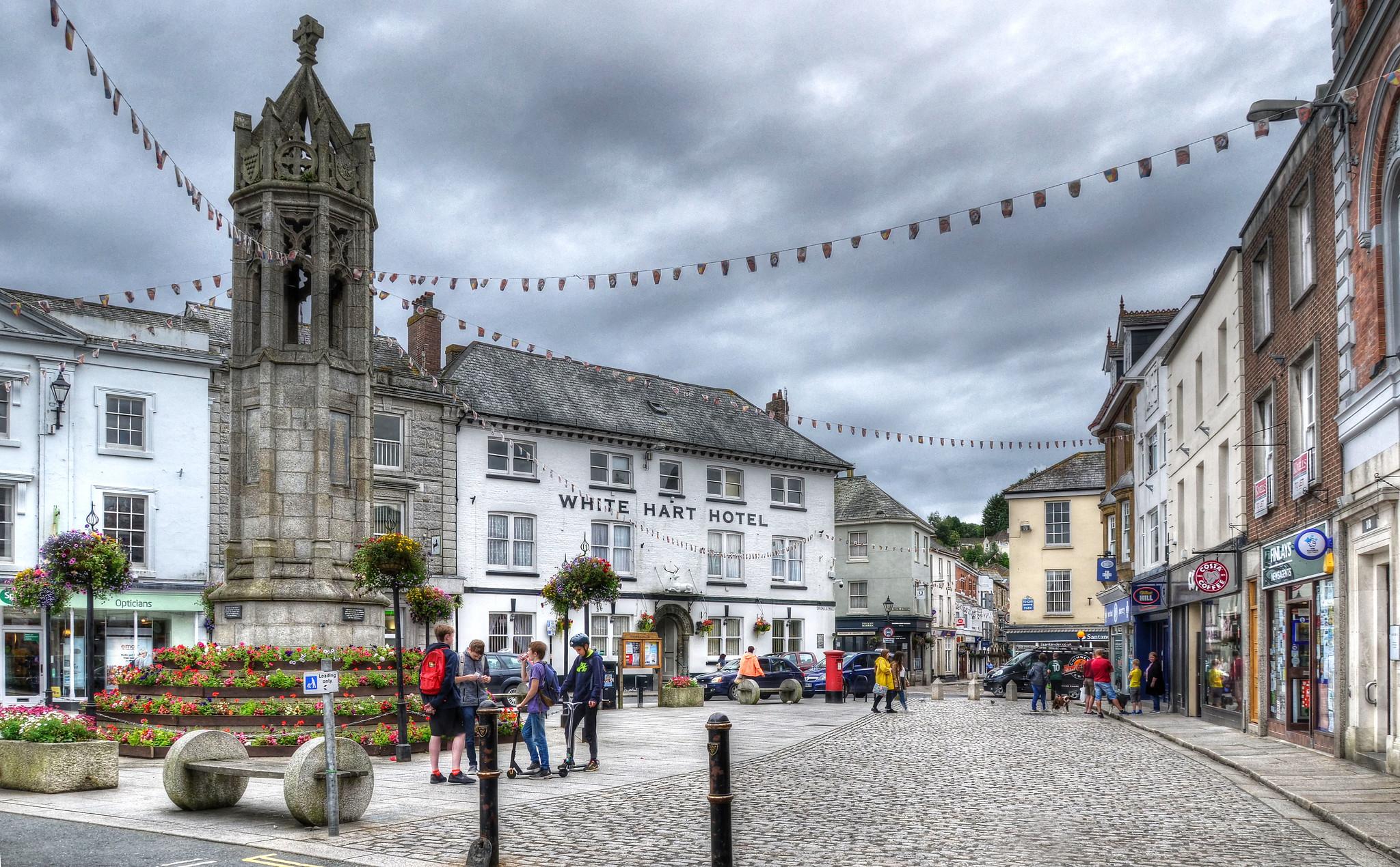 Launceston Town Square, Cornwall by Baz Richardson.jpg