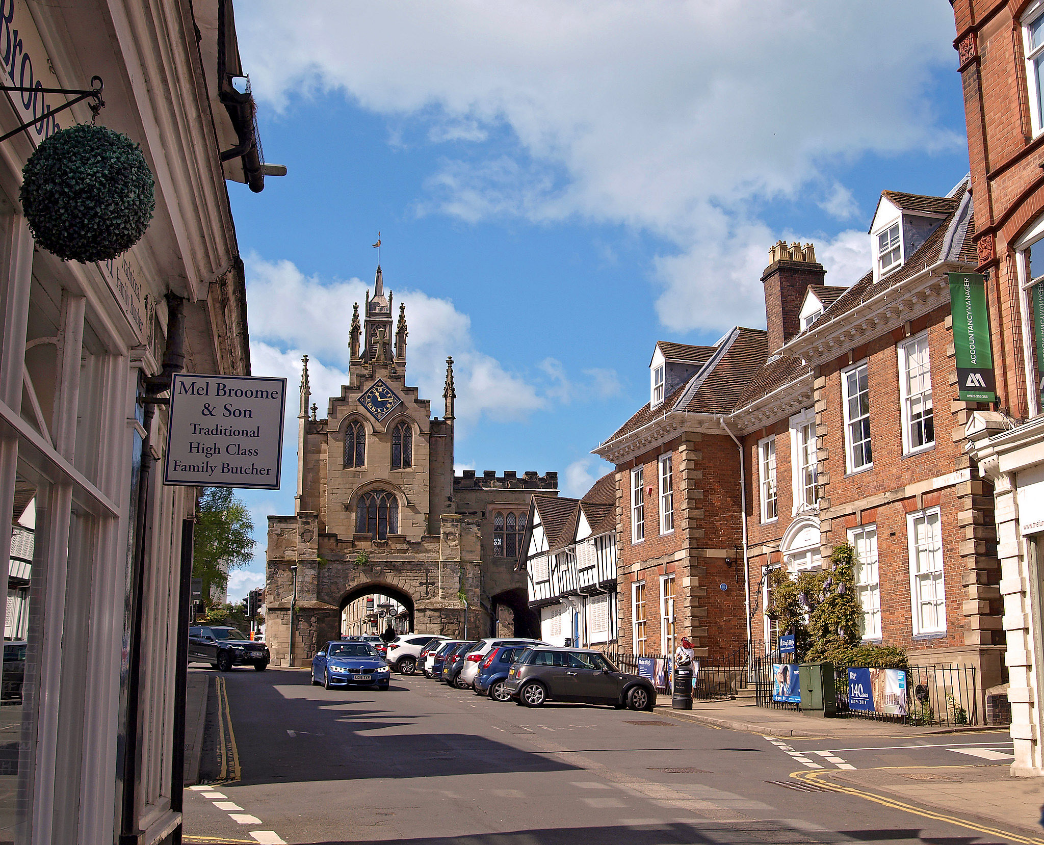 Warwick - The exterior of the East Gate by Andrew S Brown.jpg