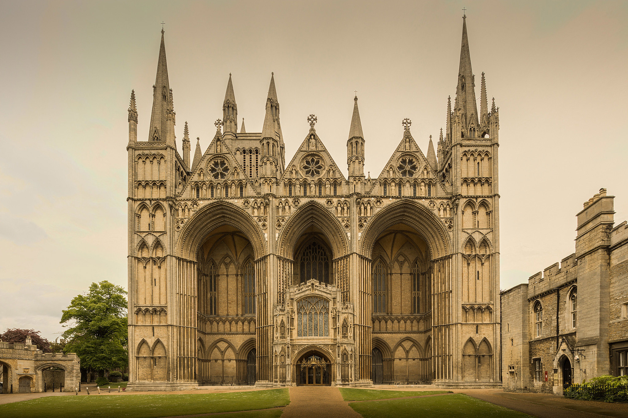 Peterborough Cathedral by Michael D Beckwith.jpg