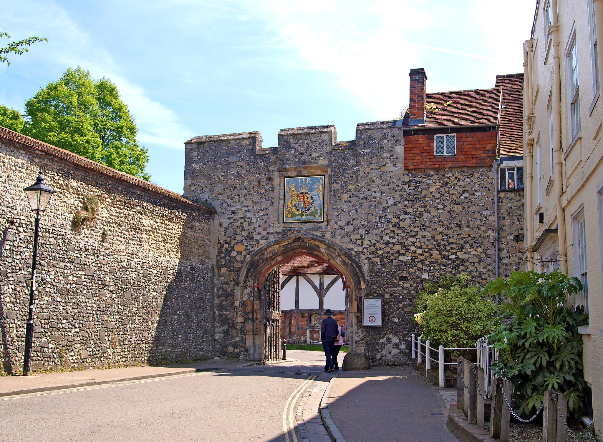 The outside of the Prior's Gate, Winchester, Hampshire by Andrew S Brown.jpg