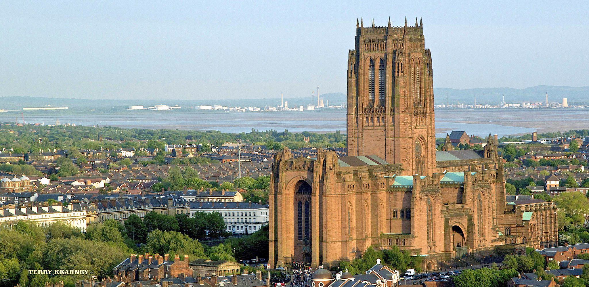 Liverpool Anglican Cathedral from St. John's Beacon by Terry Kearney.jpg