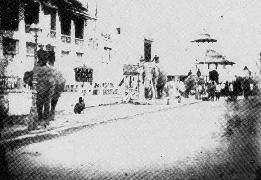 1868 Bangkok street scene, festival preparations.jpg