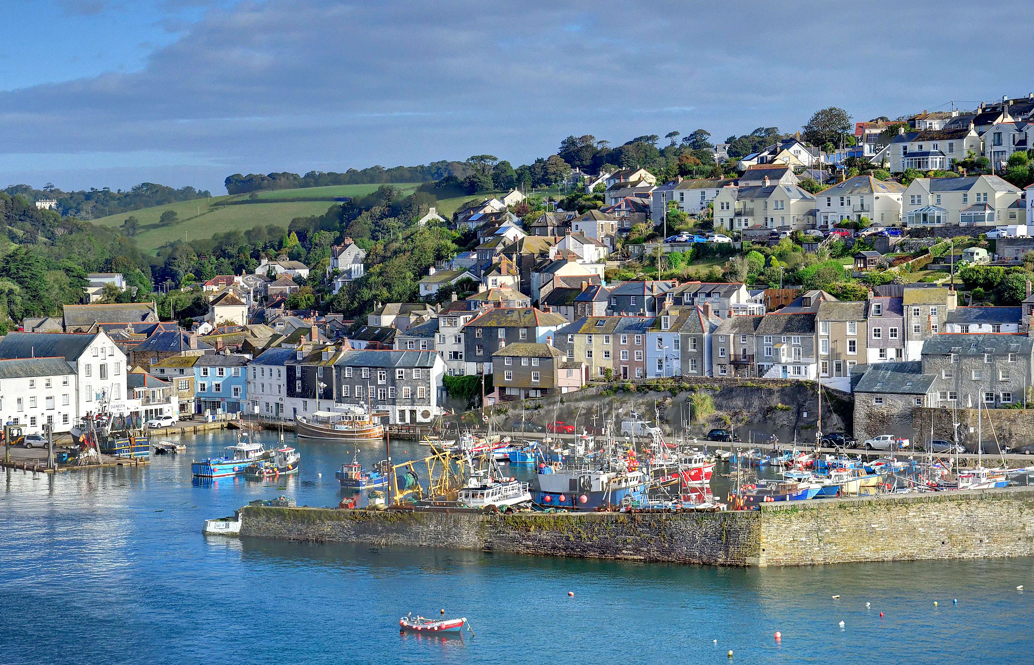 Mevagissey and the inner harbour, Cornwall by Baz Richardson.jpg