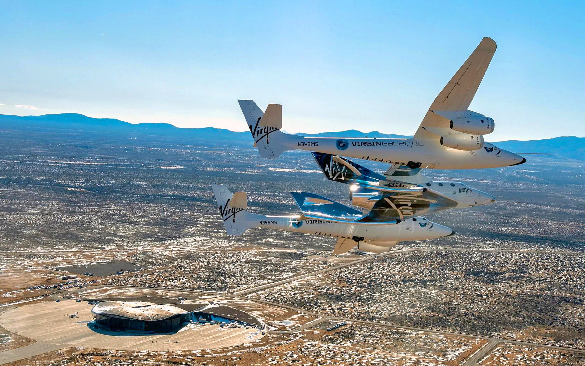 Virgin Galactic's VSS Unity over Spaceport America, New Mexico.jpg