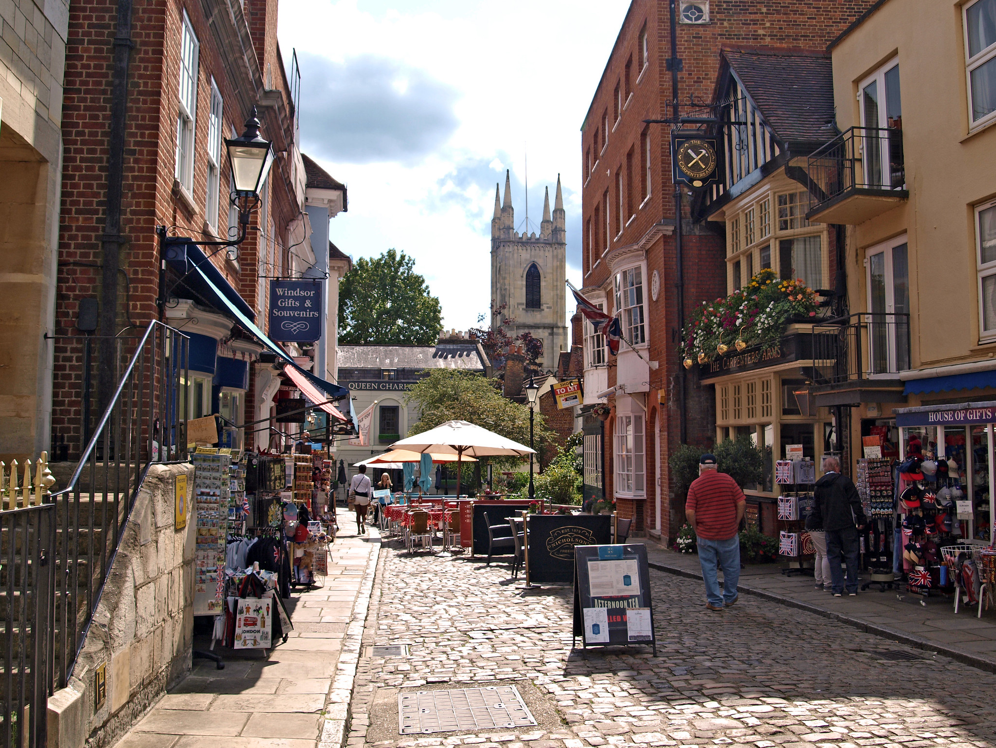 Church Street in the heart of Windsor, Berkshire by Andrew S Brown.jpg