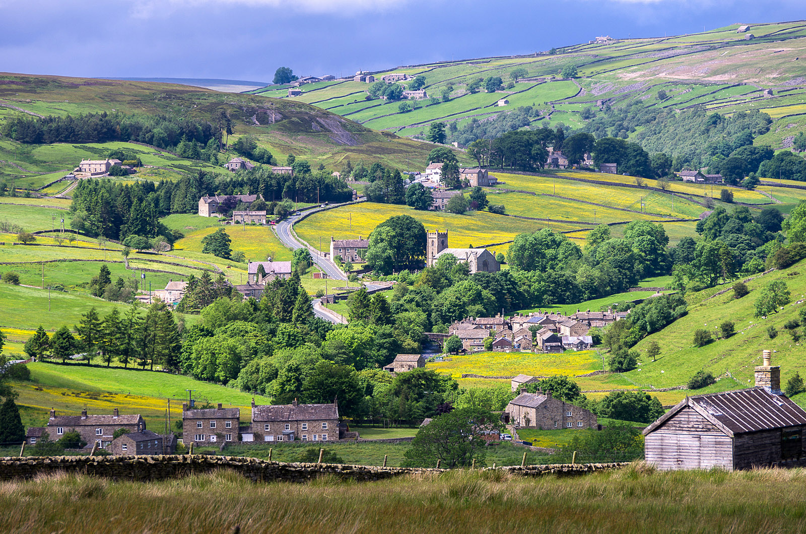 Langthwaite in Arkengarthdale, Yorkshire by Bob Radlinski.jpg