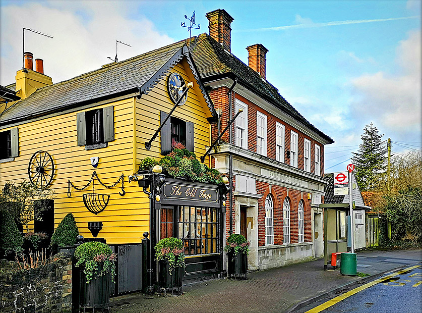 Old Forge and former bank, Farnborough by Jason Rodhouse.jpg