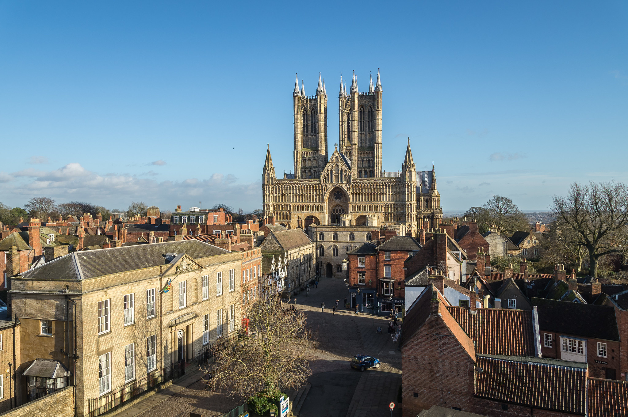 Lincoln Cathedral from Lincoln Castle by David Forward.jpg