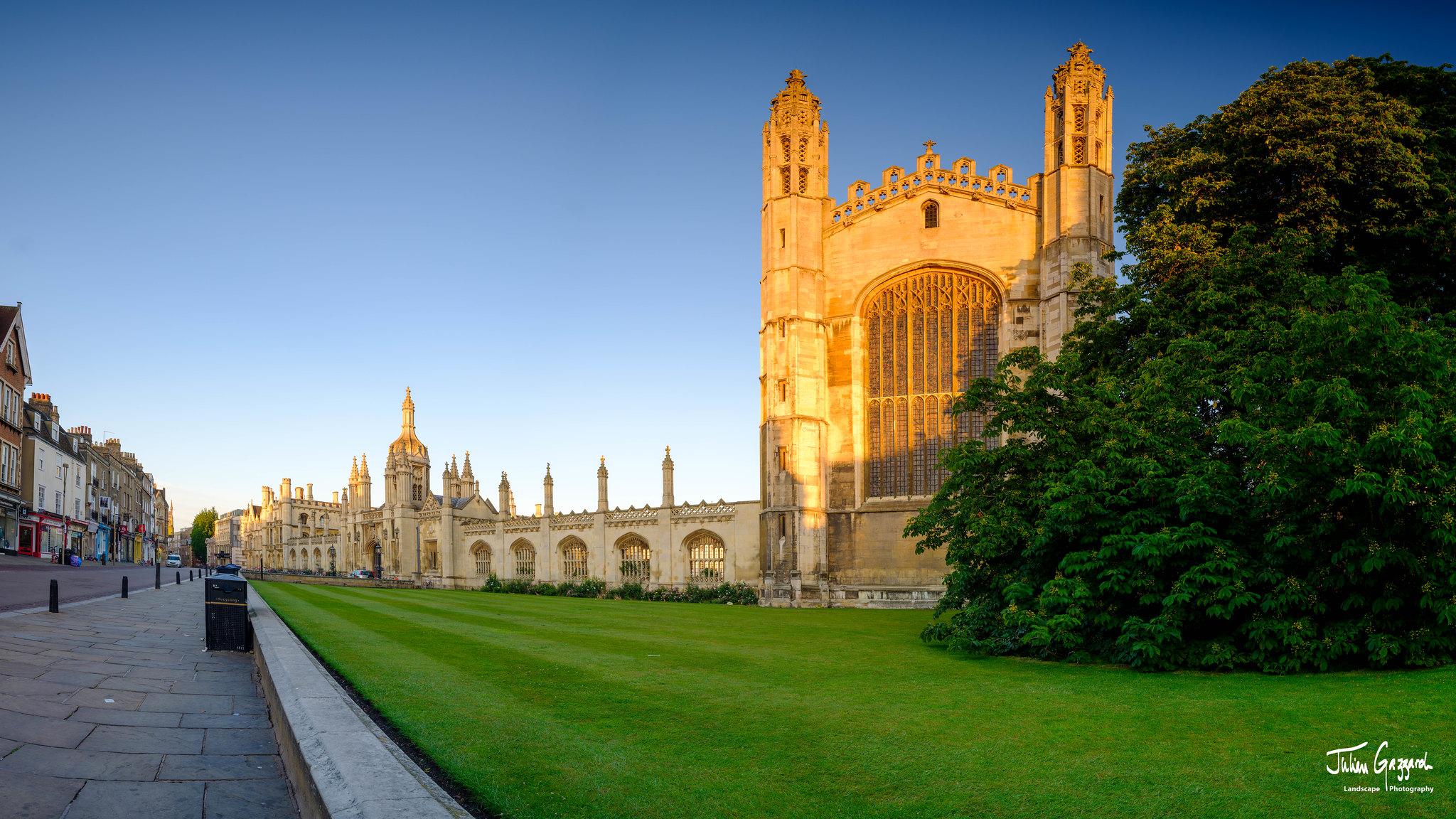 Golden morning summer light on King's College, Cambridge by Julian Gazzard.jpg