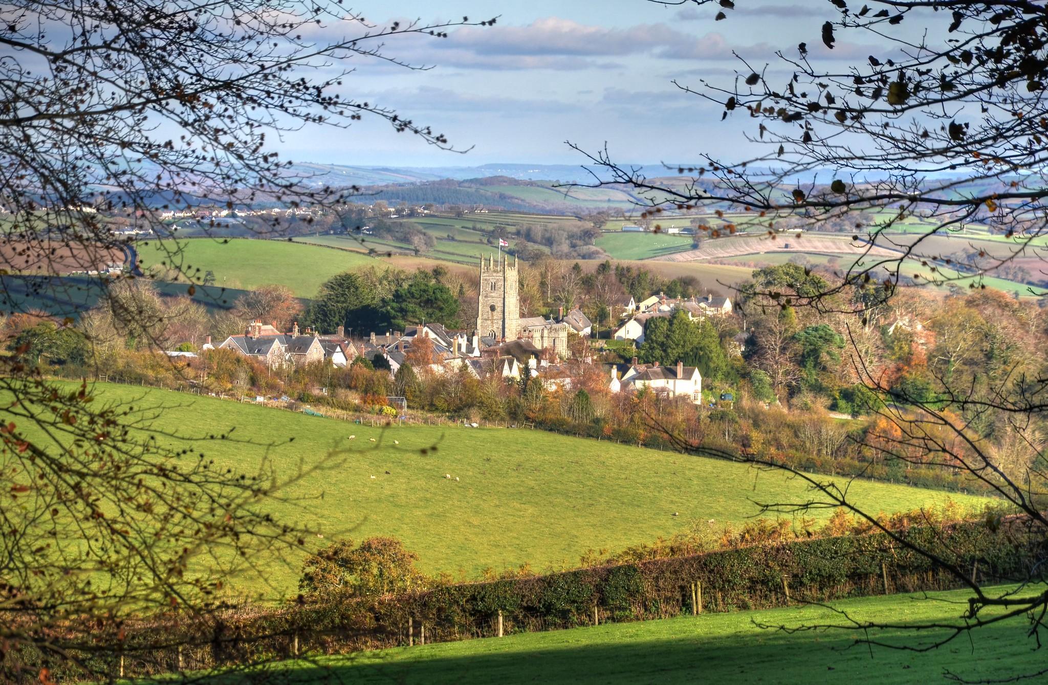 The village of Drewsteignton, Dartmoor by Baz Richardson.jpg