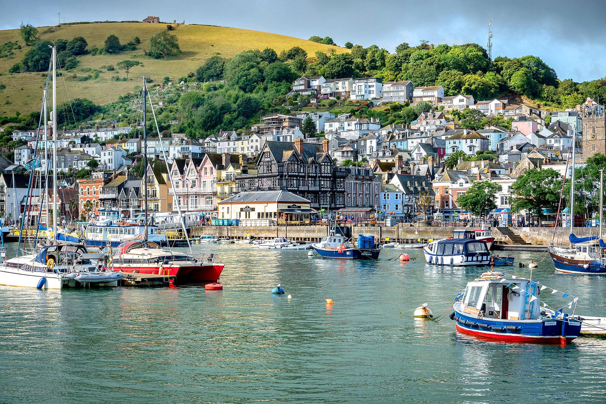 Arriving at Dartmouth by ferry, Devon by Bob Radlinski.jpg