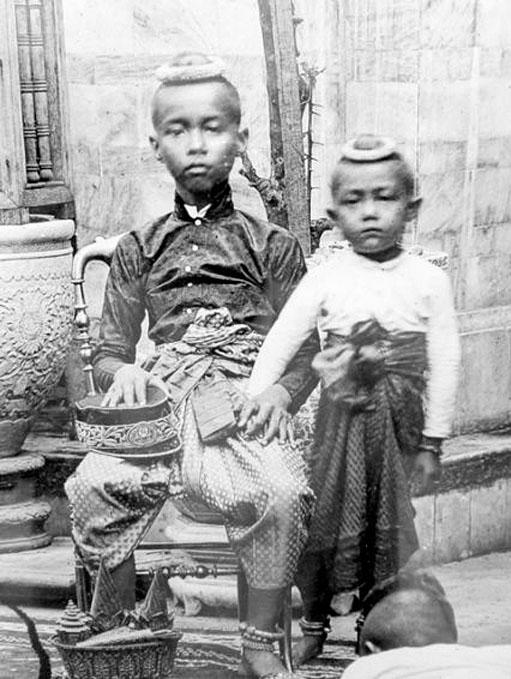 1865 Young Prince Chulalongkorn [left].jpg
