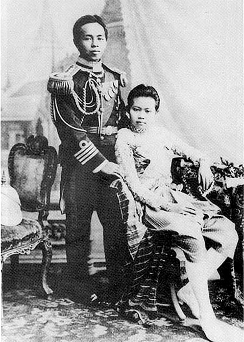 HRH Prince Abhakara poses with his Mother, HM Queen Consort Sukhumala Marari.jpg