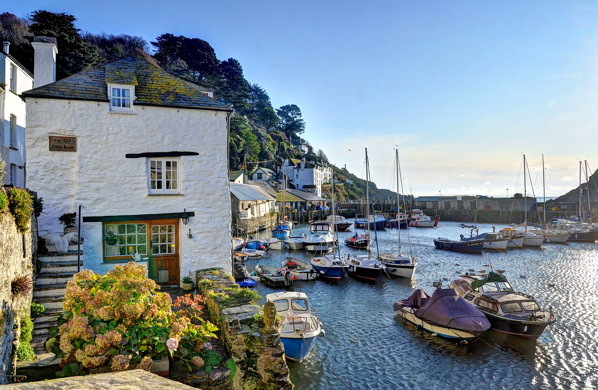 The harbour at Polperro, Cornwall by Baz Richardson.jpg
