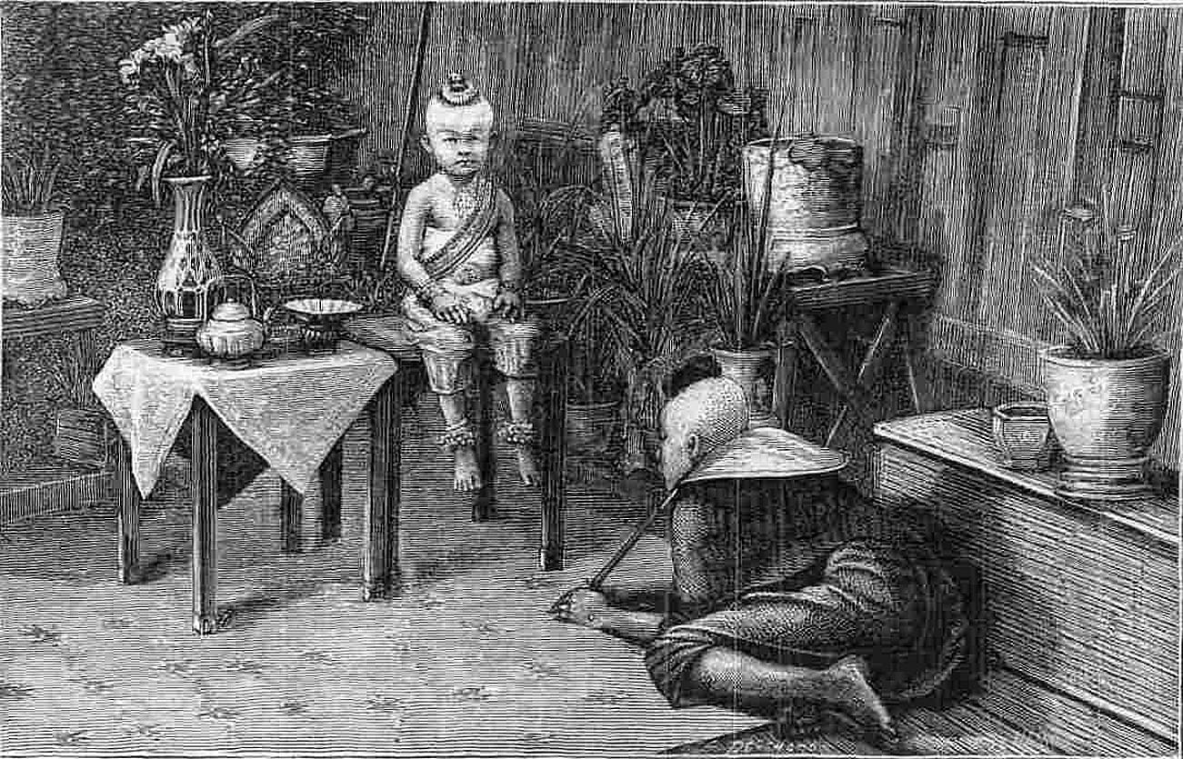 1873 72nd child of the King of Siam {illustration from Lippincott's Magazine Dec. 1873}.jpg