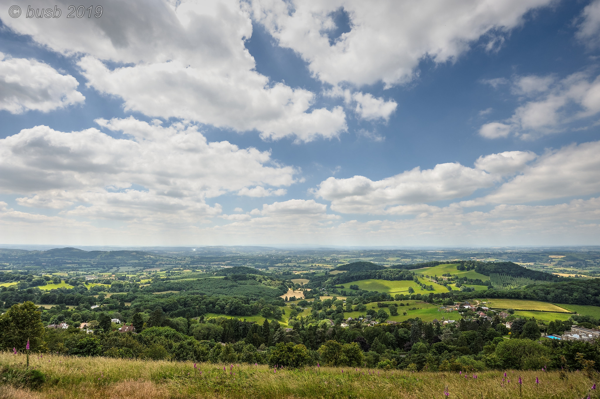 Herefordshire from the hills above Great Malvern, Worcestershire by Paul Busby.jpg