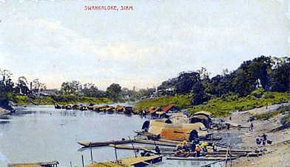 1913 Sukhothai Province village on the Yom River.jpg