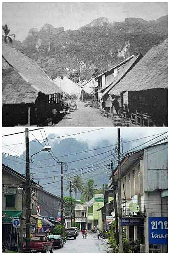 Comparative period views of 1900 and 2012 Muang Phangnga 1.jpg