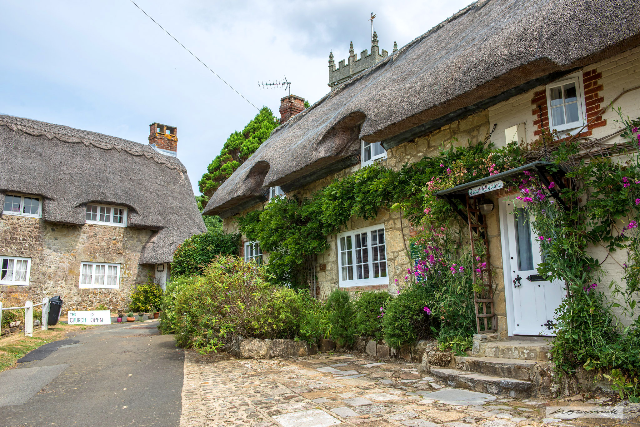 Godshill, Isle of Wight - cottages on Church Hill by Neil Cresswell.jpg
