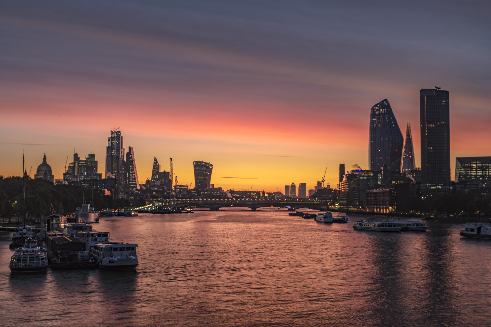 Thames from Waterloo Bridge, London by Beartomcat.jpg