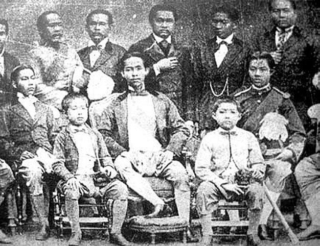 1871 Chulalongkorn, the young statesman [centre front] India.jpg