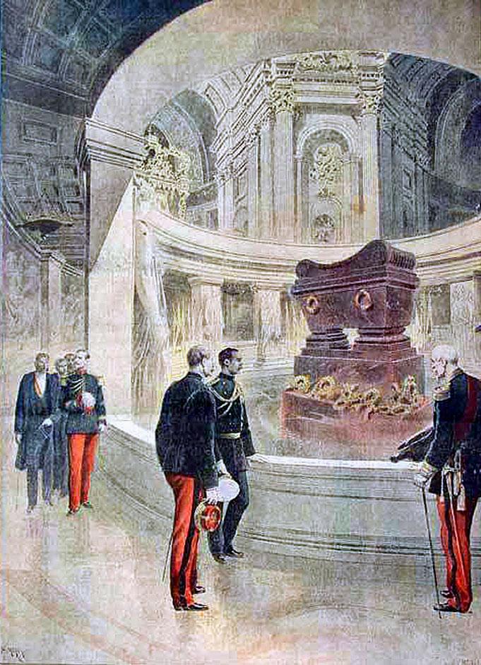 1889 HM King Chulalongkorn at the tomb of Napoleon {Le Petite Journal}.jpg
