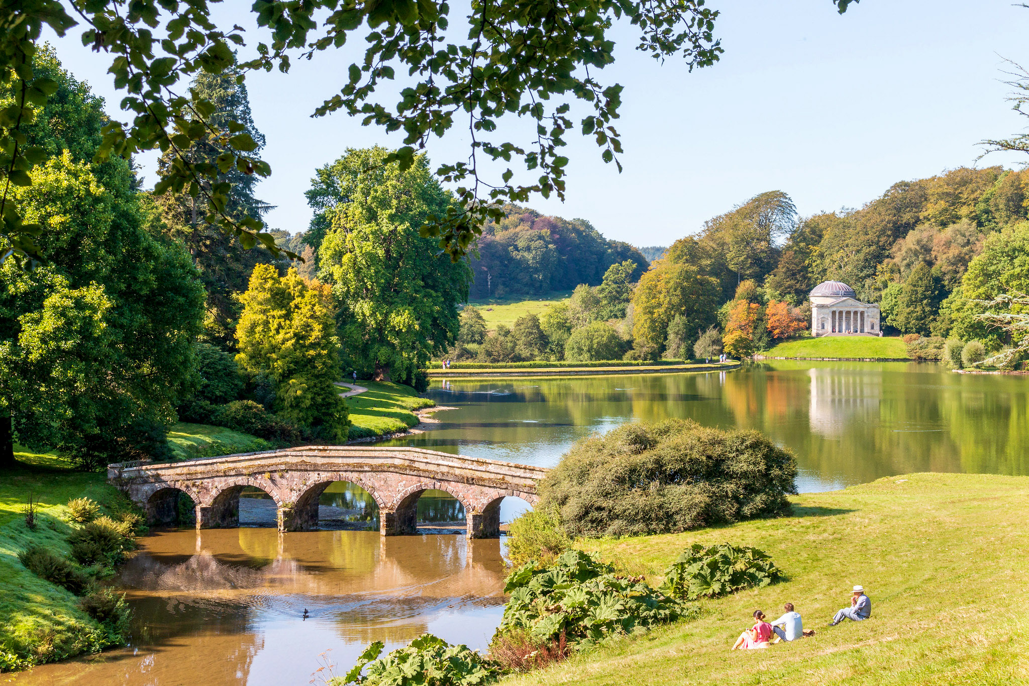 Stourhead Lake in view of the Palladian Bridge and the Pantheon by Keith Bowden.jpg