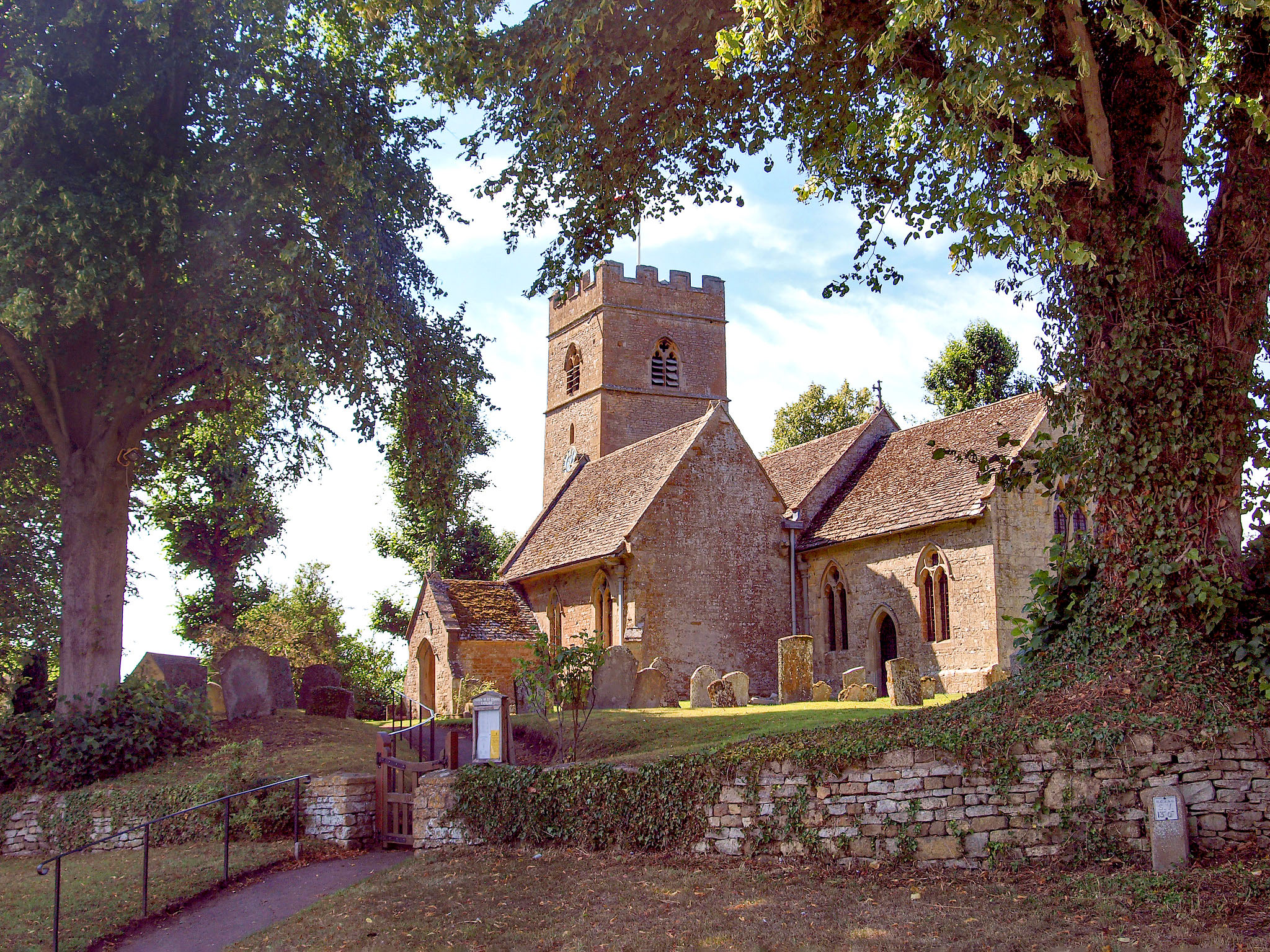 The Church of St Edward King & Martyr, Evenlode, Gloucestershire by Andrew S Brown.jpg