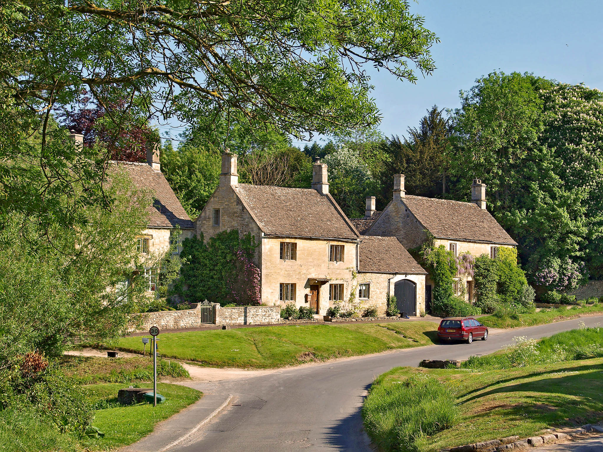 Little Barrington in the quiet Windrush valley, Gloucestershire by Andrew S Brown.jpg