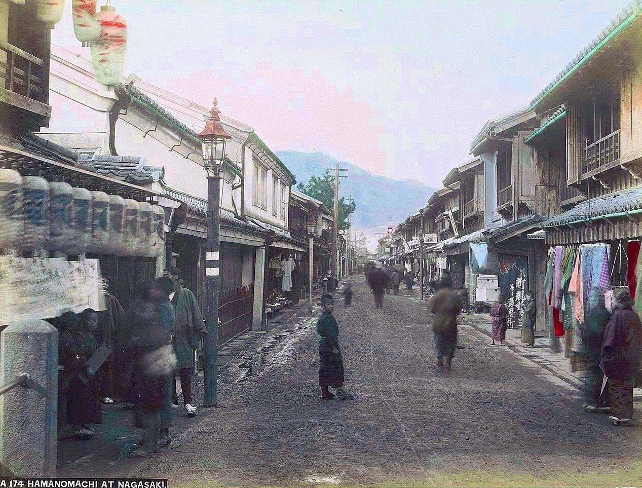 1870 Hamanomachi at Nagasaki.jpg