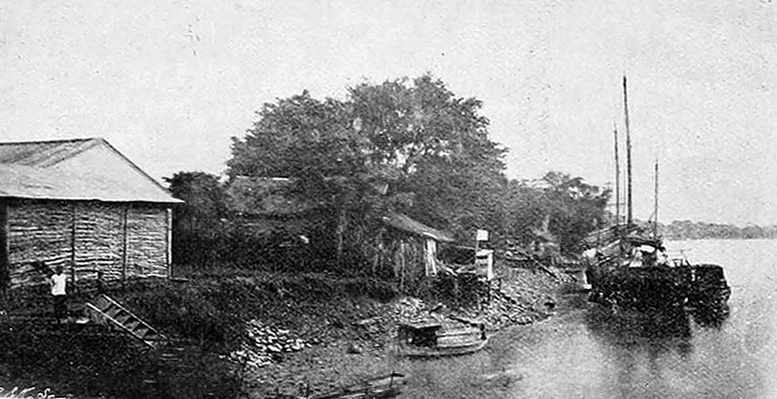 1890 Village alongside the upper Chao Phraya River, Chai Nat Province.jpg