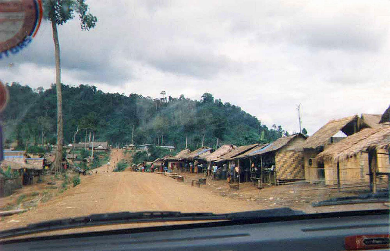 1991 Sok San Khmer Rouge base camp {village} just inside Trat Province.jpg