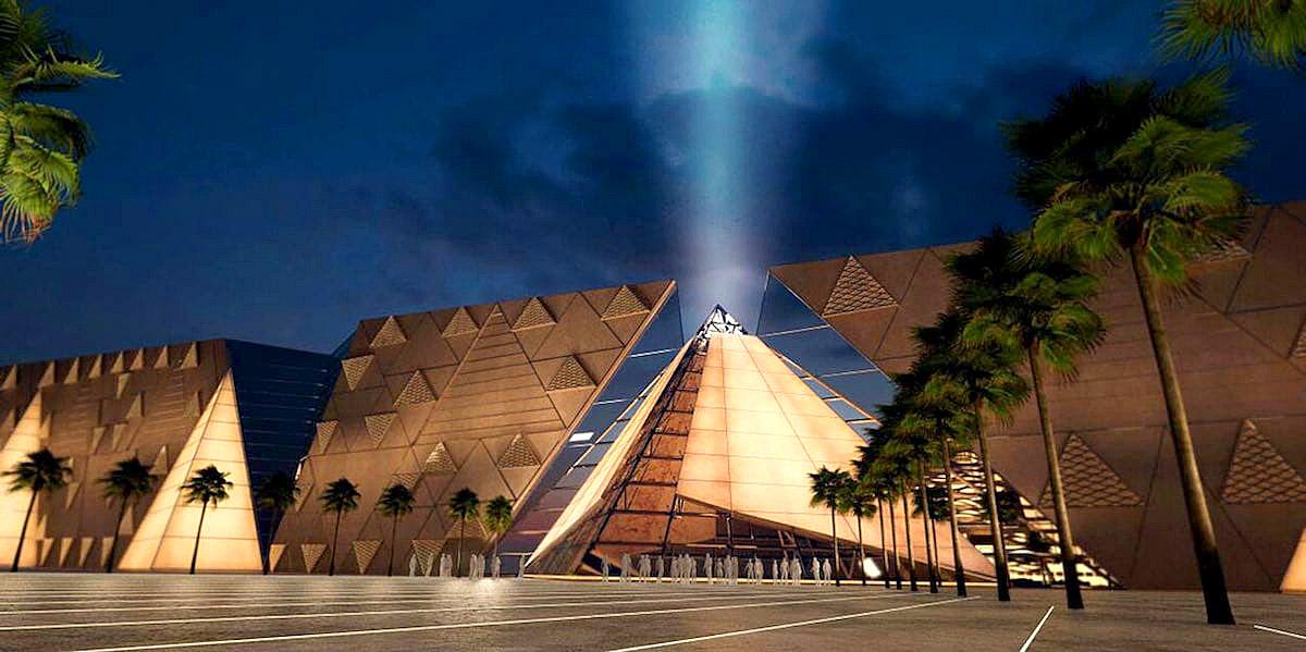 Pyramid wall at Grand Egyptian Museum.jpg