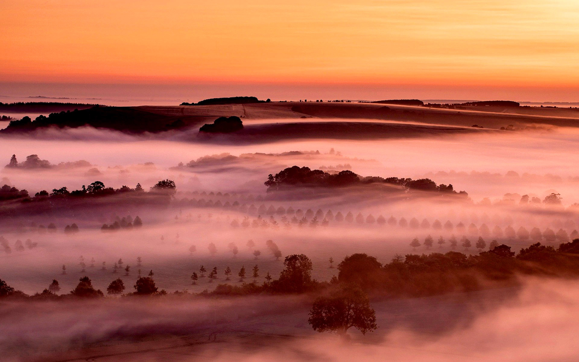 A misty sunrise from Win Green on the Dorset and Wiltshire border by Matt Pinner.jpg