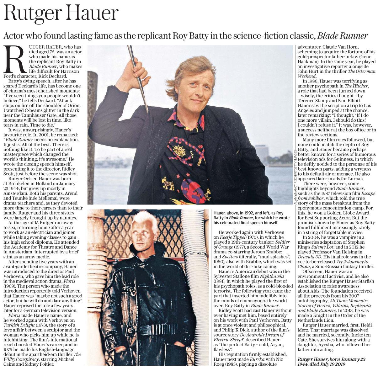 The Daily Telegraph  July 25 2019 RHauer.jpg
