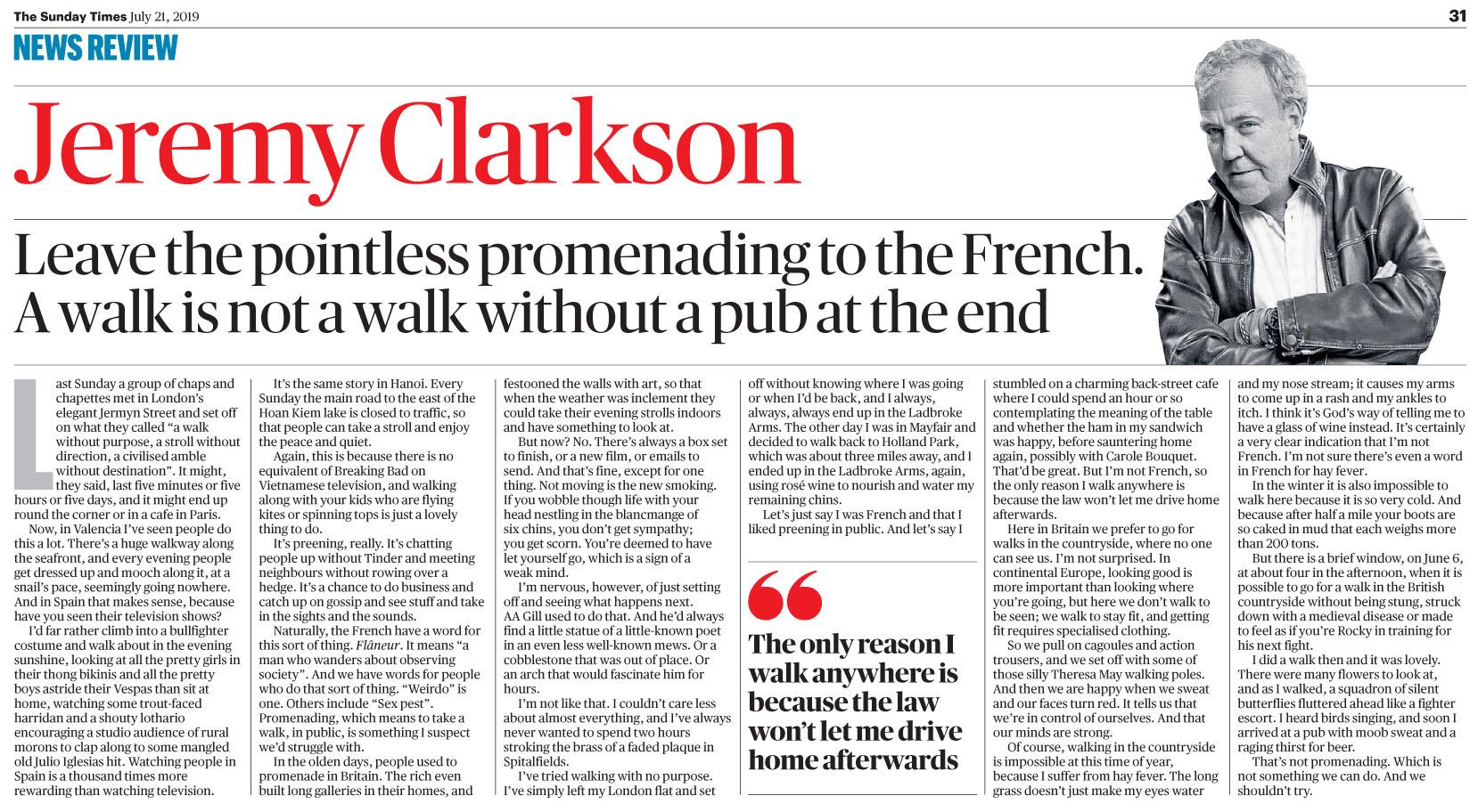 The Sunday Times UK  21 July 2019 JClarkson.jpg