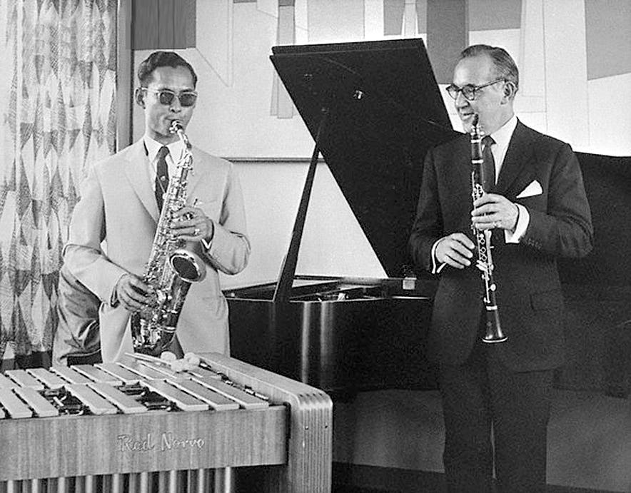 1960 HM the King and Benny Goodman.jpg