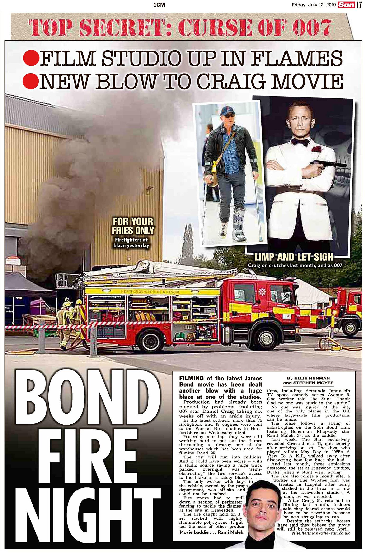 The Sun UK  12 July 2019 Bond.jpg